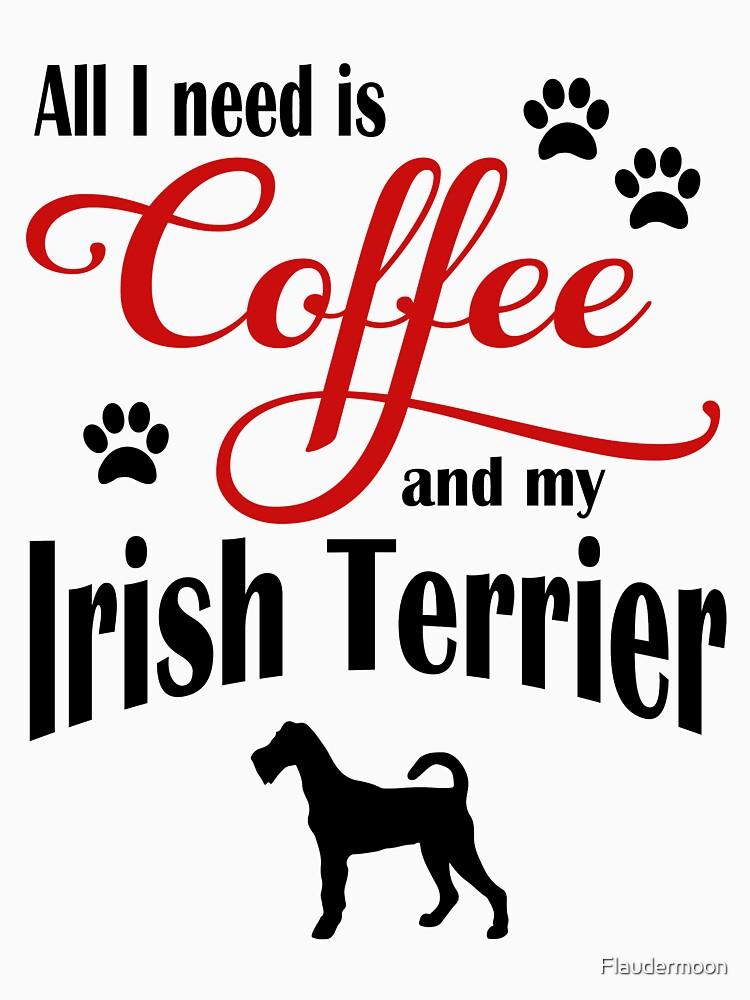 Coffee and my Irish Terrier by Flaudermoon