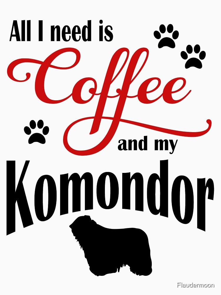 Coffee and my Komondor by Flaudermoon