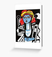 PICASSO PAINTING BY NORA  FILM STAR Greeting Card