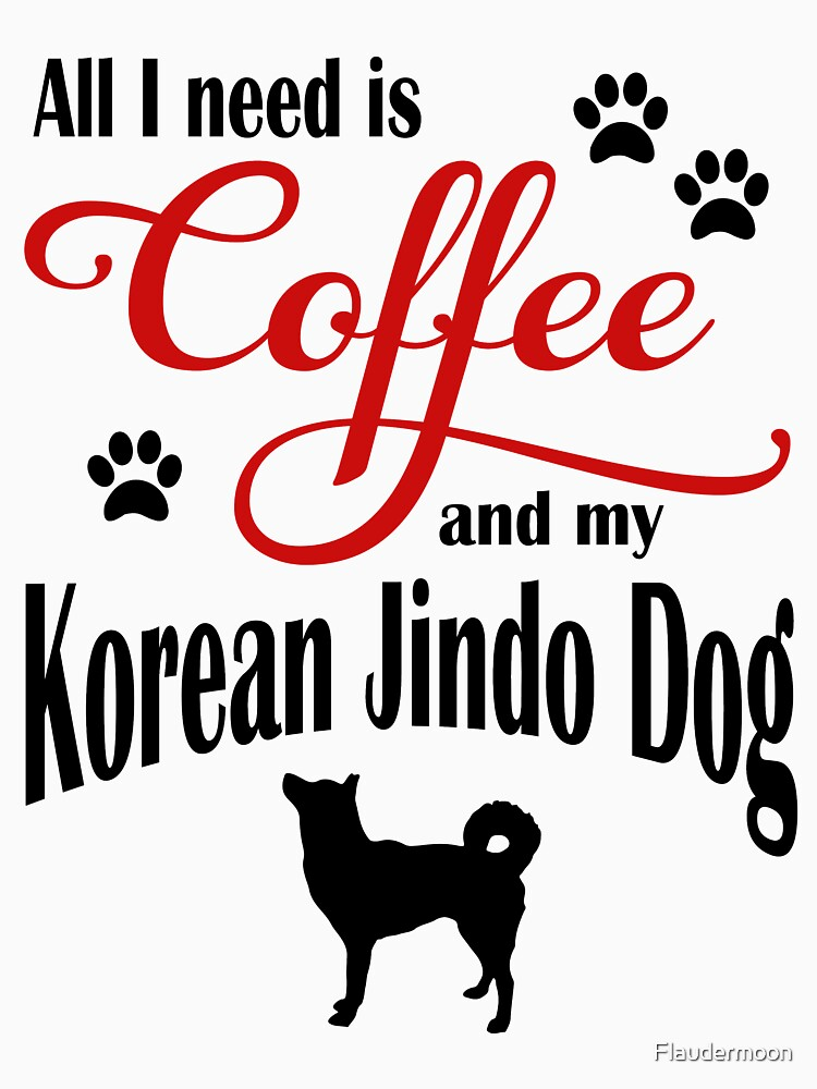 Coffee and my Korean Jindo Dog by Flaudermoon
