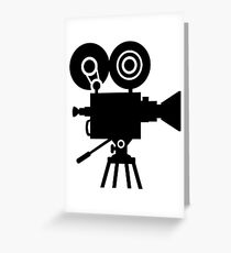 Film movie camera Greeting Card