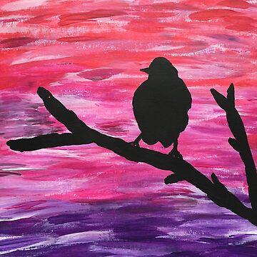 Bird painting silhouette  by FullHouse