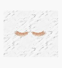 Rose gold marble lash envy Photographic Print