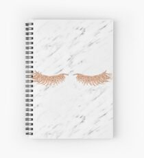Rose gold marble lash envy Spiral Notebook