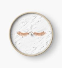 Rose gold marble lash envy Clock