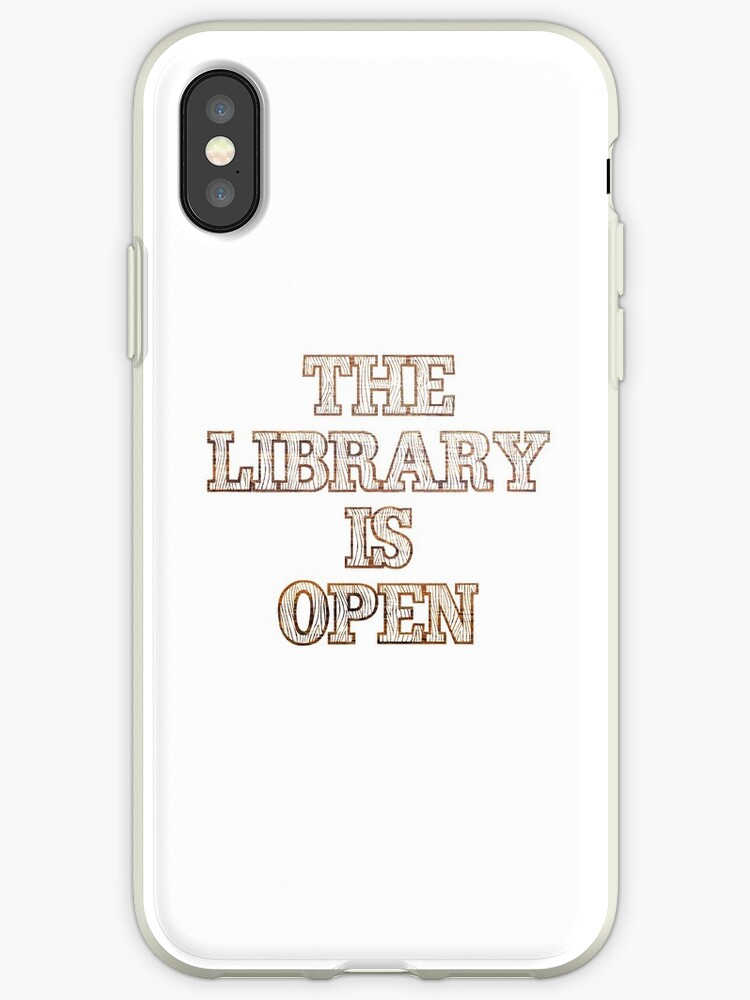 The Library Is Open (Wood) by sergiovarela