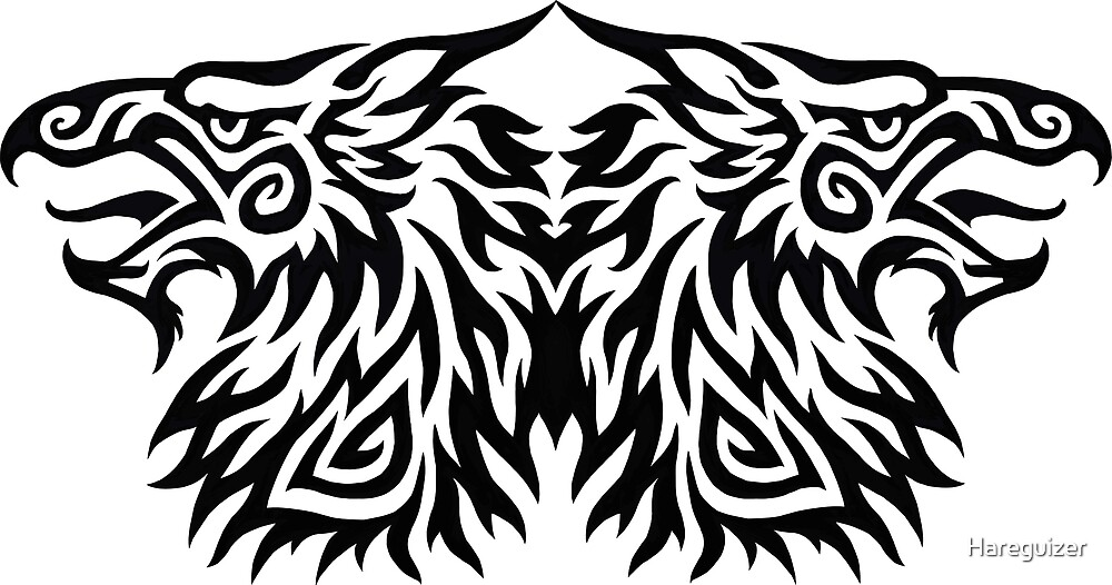 Double Headed Tribal Gryphon by Hareguizer