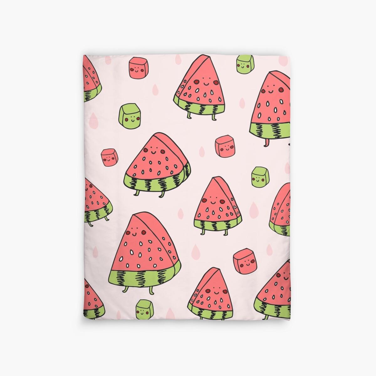 Quot Watermelon Quot Duvet Covers By Littleredcheeks Redbubble