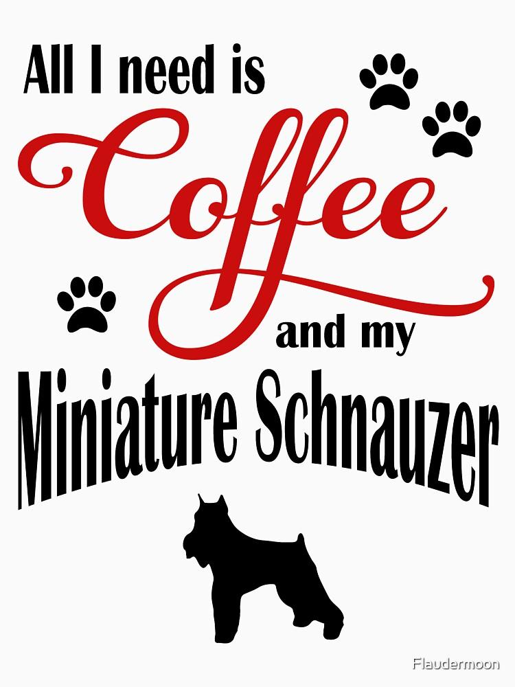 Coffee and my Miniature Schnauzer by Flaudermoon