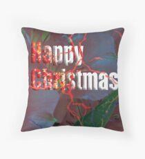 Happy Christmas card Throw Pillow
