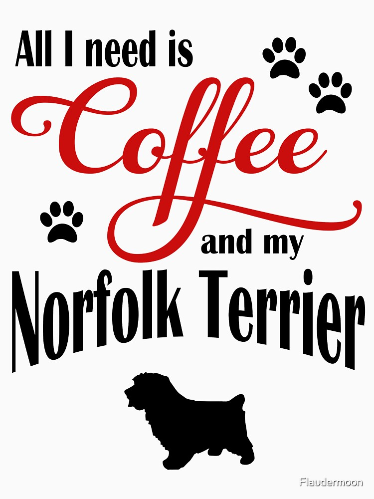 Coffee and my Norfolk Terrier by Flaudermoon