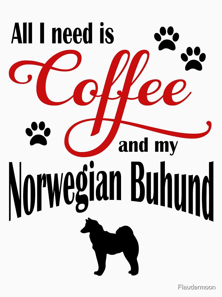 Coffee and my Norwegian Buhund by Flaudermoon