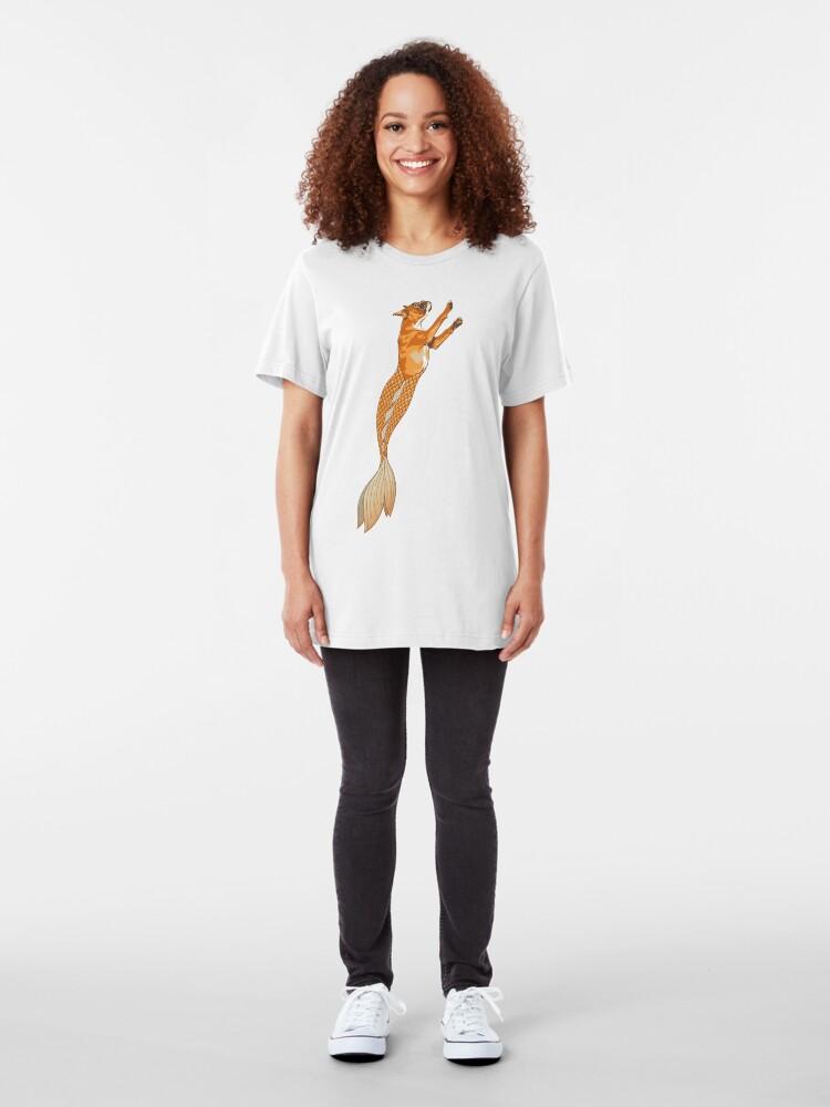 Alternate view of Ginger the Boxer Merpup Slim Fit T-Shirt