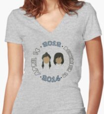 Beginning to End of Legend of Korra (Any Color!) Women's Fitted V-Neck T-Shirt