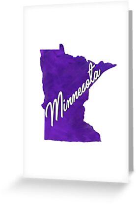 Minnesota - Watercolor by loudestkitten