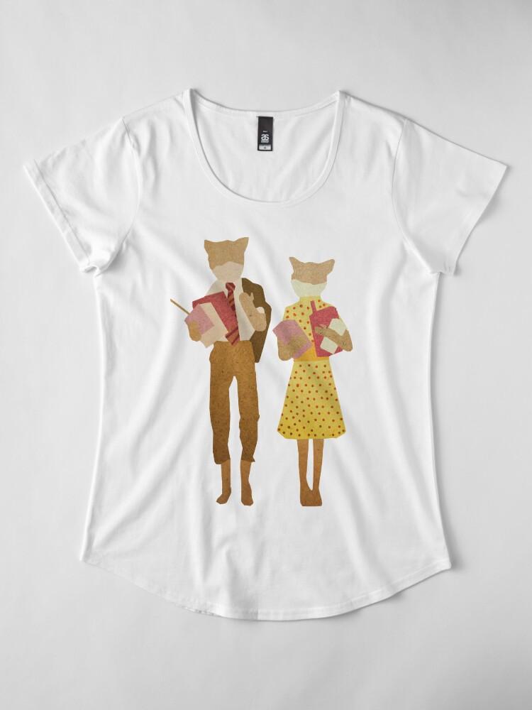 Alternate view of Fantastic Mr Fox  Premium Scoop T-Shirt