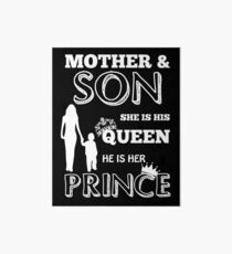 Mother And Son - Queen And Prince Art Board Print