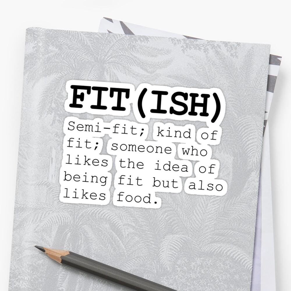 Fitish también le gusta la comida Pegatinas