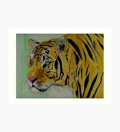 The Sad Tiger Art Print