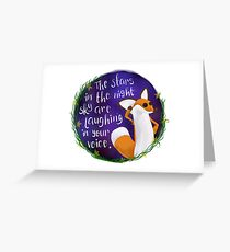 The Little Prince Fox Greeting Card