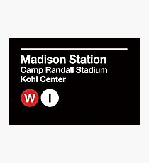 Madison, Wisconsin Sports Venues Subway Sign Photographic Print