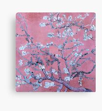 "Van Gogh's ""Almond blossoms"" with pink background Canvas Print"