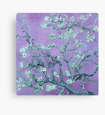"Van Gogh's ""Almond blossoms"" with purple background Canvas Print"