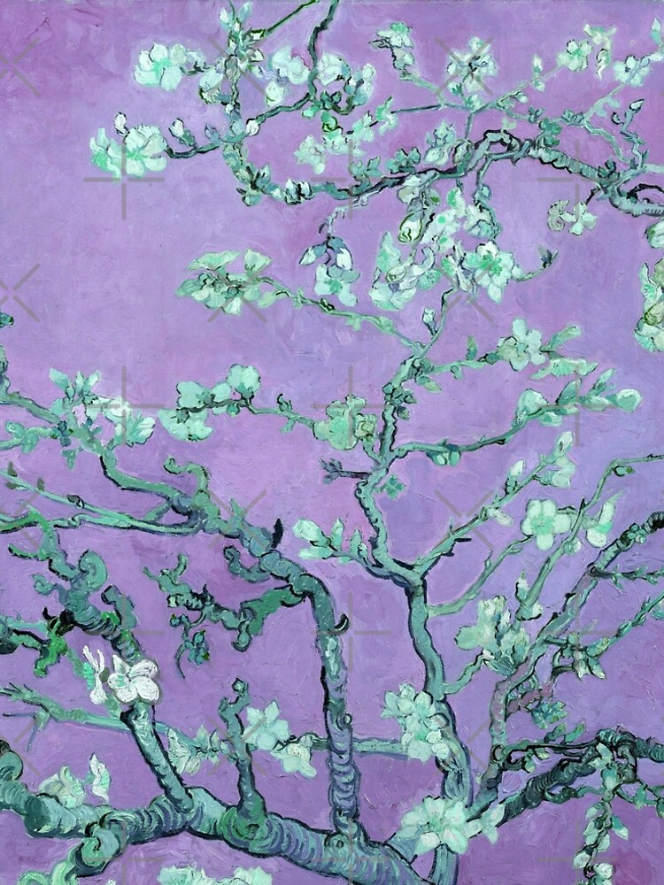 "Van Gogh's ""Almond blossoms"" with purple background by ALD1"