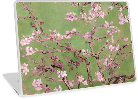 """Van Gogh's """"Almond blossoms"""" with green background by Alexandra Dahl"""