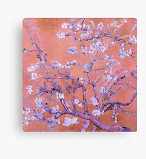 "Van Gogh's ""Almond blossoms"" with orange background Canvas Print"