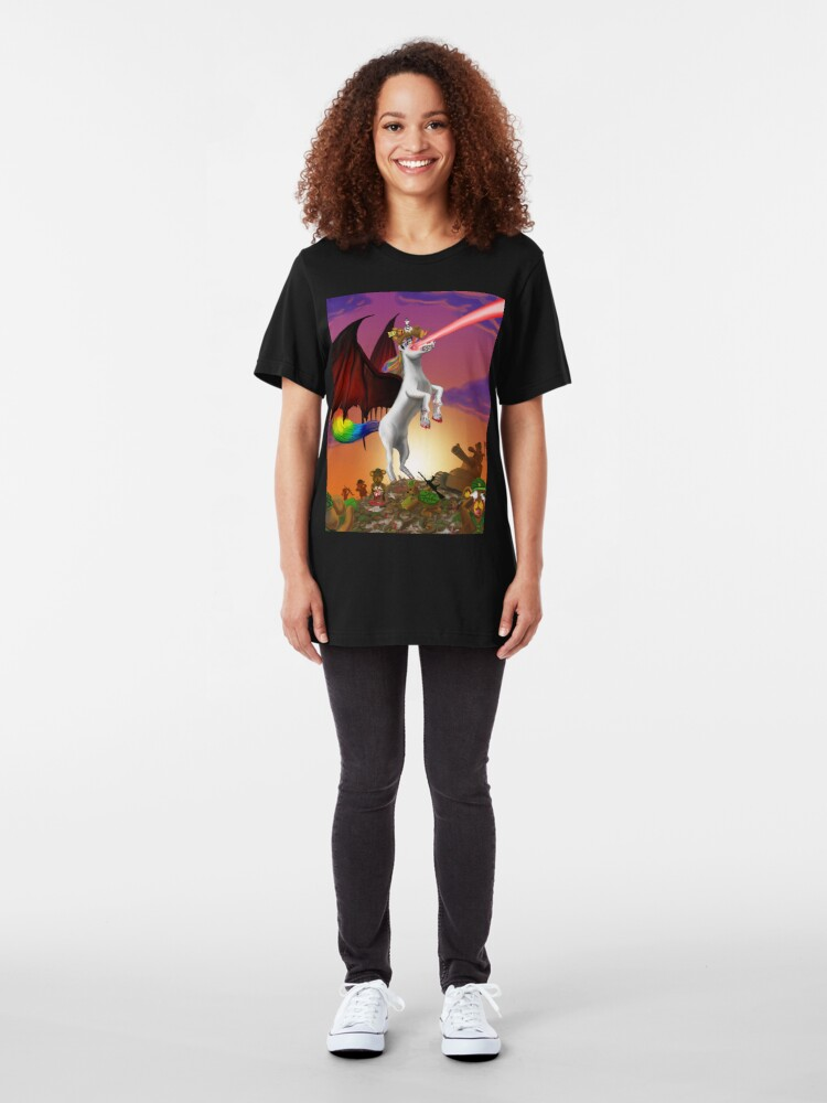 Alternate view of The King is DEAD! Slim Fit T-Shirt