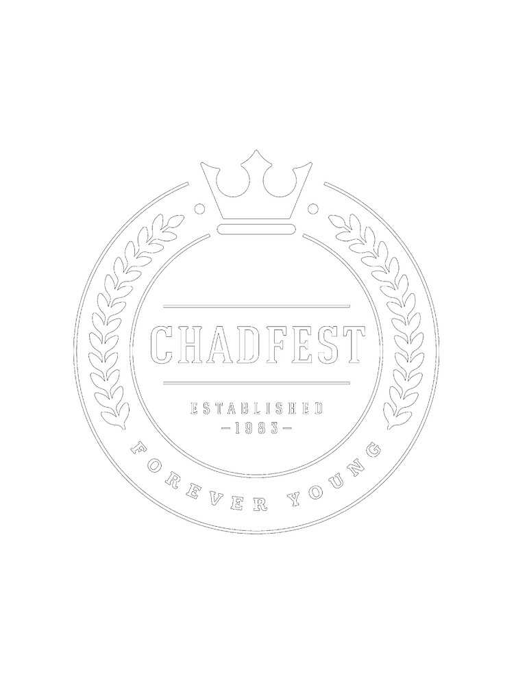 CHADFEST Classic - White Print by Chadfest
