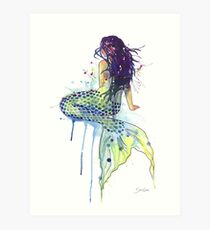 Meerjungfrau Kunstdruck