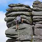 Climbing Hound Tor by lezvee