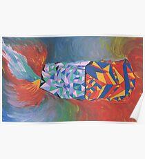 Geometric Rainbow  Poster