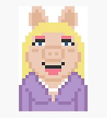 Miss Piggy The Muppets Pixel Character Photographic Print