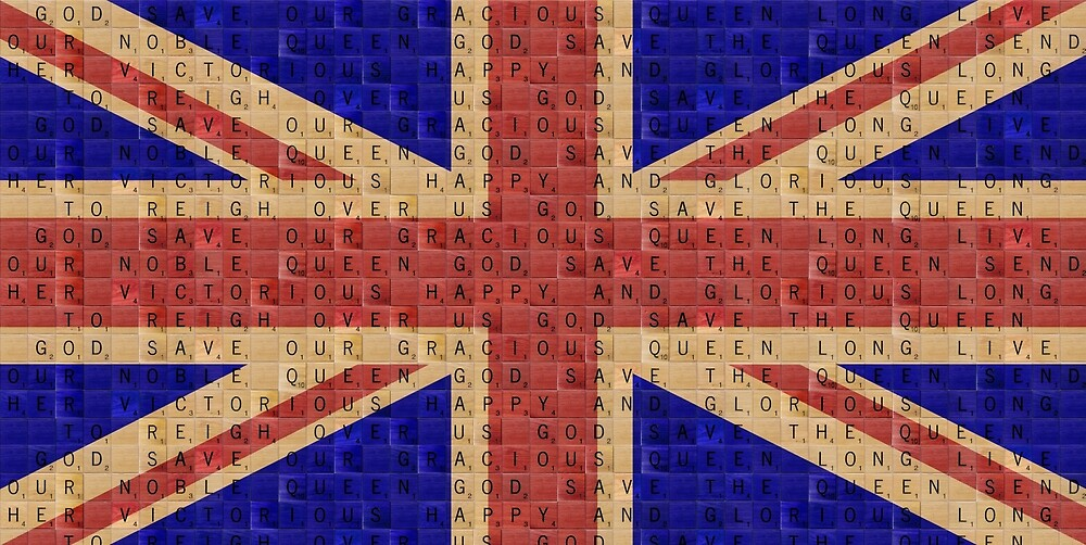 Scrabble Union Jack #1 by Gary Hogben