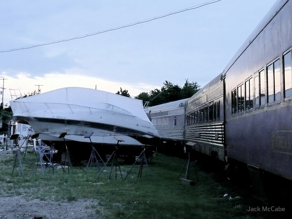 Dinner Train parked near the boatyard. by Jack McCabe