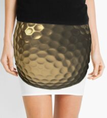 Golden Golf Ball Mini Skirt