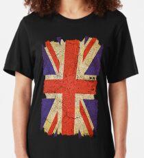 Ragged Britannia Union Jack Flag Slim Fit T-Shirt