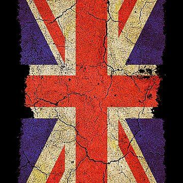 Ragged Britannia Union Jack Flag by SC001