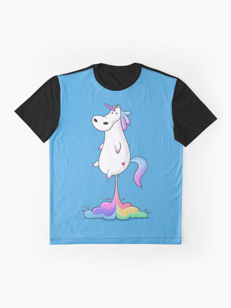 Alternate view of Unicorn Fart Graphic T-Shirt