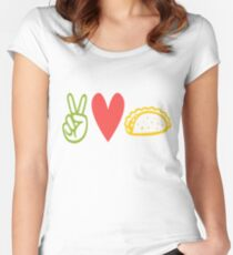 Peace Love Tacos Women's Fitted Scoop T-Shirt