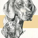 Hungarian Vizsla Father & Son by BarbBarcikKeith
