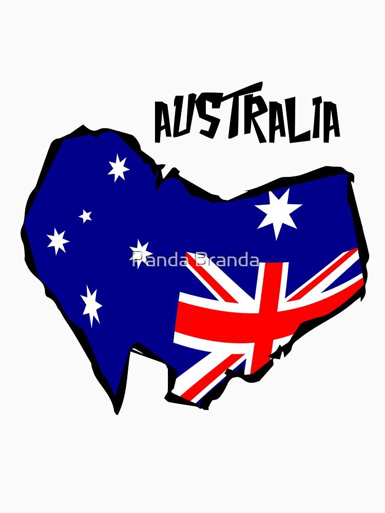 Australia Flag Art Design by CrusaderStore