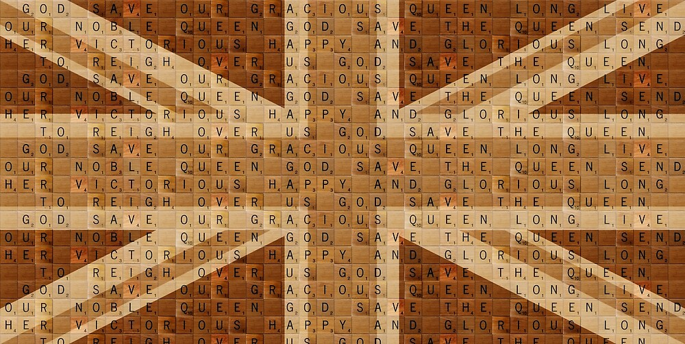 Scrabble Union Jack #2 by Gary Hogben
