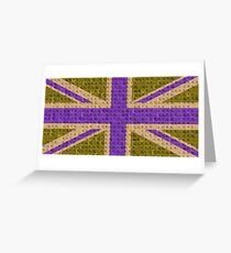 Scrabble Union Jack #3 Greeting Card