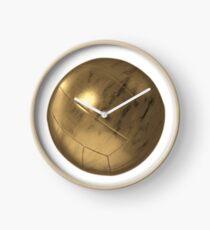 Golden Volleyball Clock