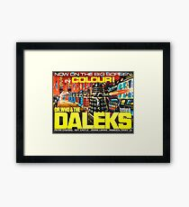 Doctor Who Poster – Doctor Who and the Daleks Framed Print