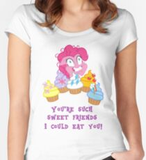 my little pony pinkie pie cupcakes 1 Women's Fitted Scoop T-Shirt